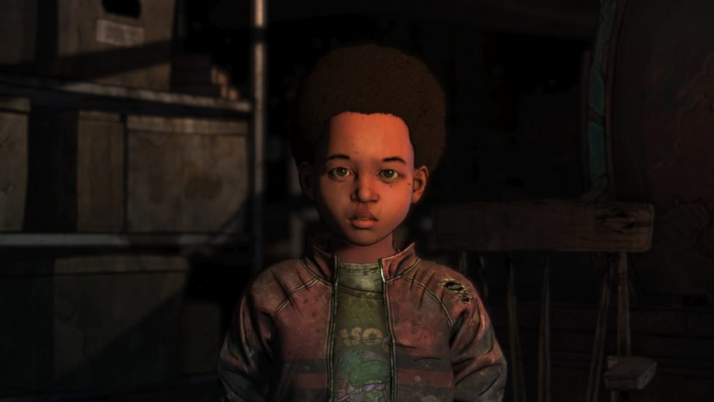 Walking Dead Final Season Episode 3 AJ Staring