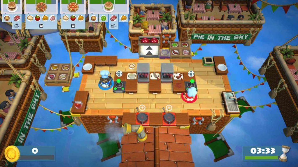 Overcooked 2 Pie in the Sky Floating Kitchen Level