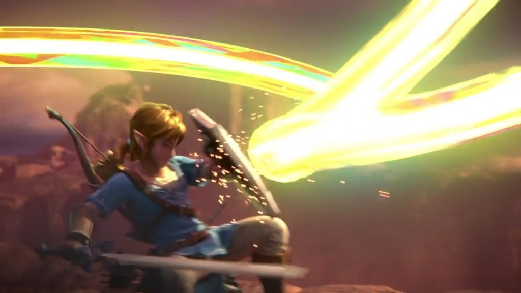 Link Fighting Off Galeem Beam