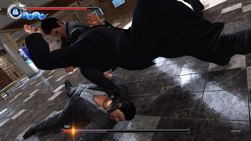Yakuza 6 Kiryu Double Takedown