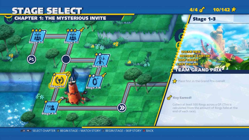 Team Sonic Racing Team Adventure Map