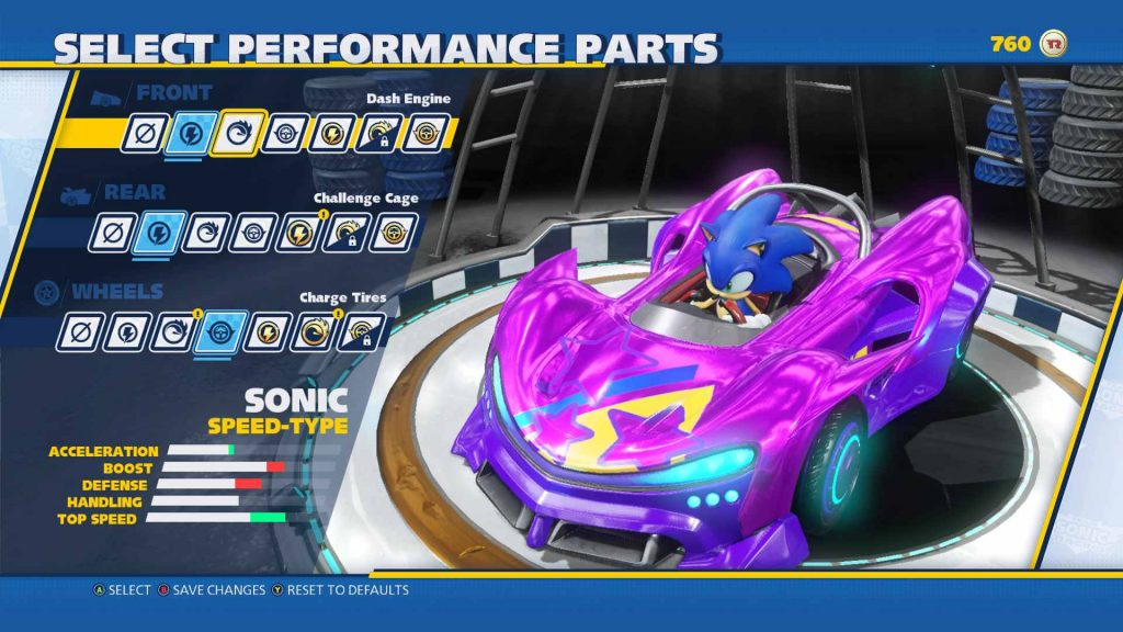 Team Sonic Racing Customizing Sonic's Kart