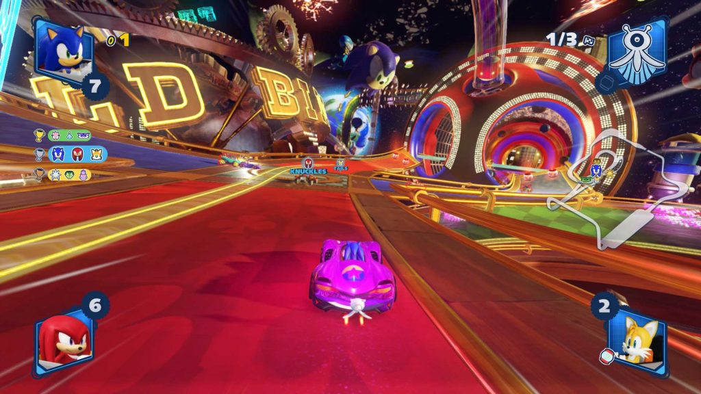 Team Sonic Racing Pinball Course