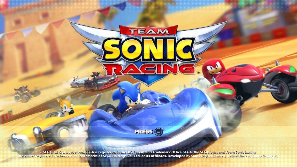 Team Sonic Racing Title Screen