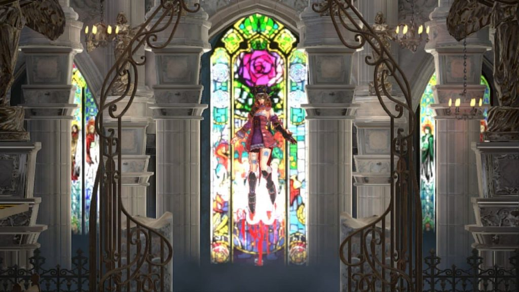 Bloodstained Stained Glass Window
