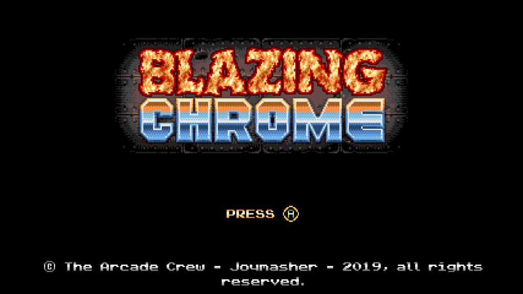 Blazing Chrome Title Screen