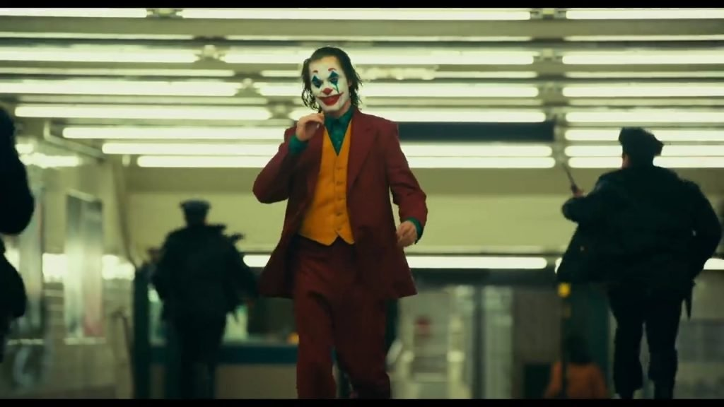 Joker Walkkng out of Subway