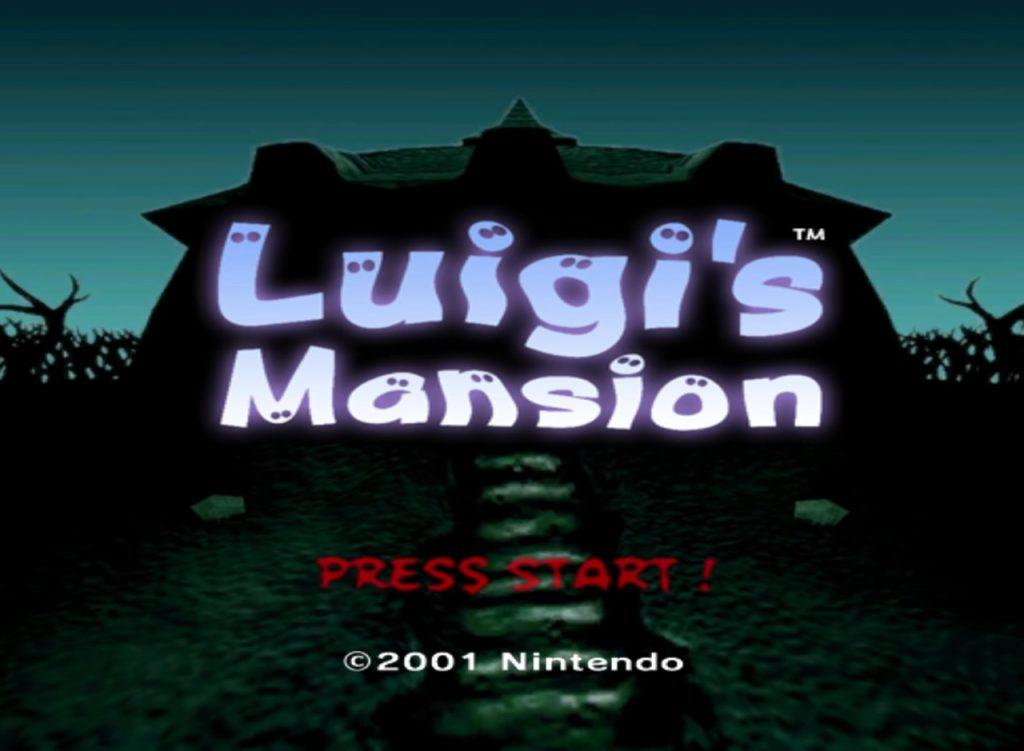 Luigis Mansion Gamecube Title Screen