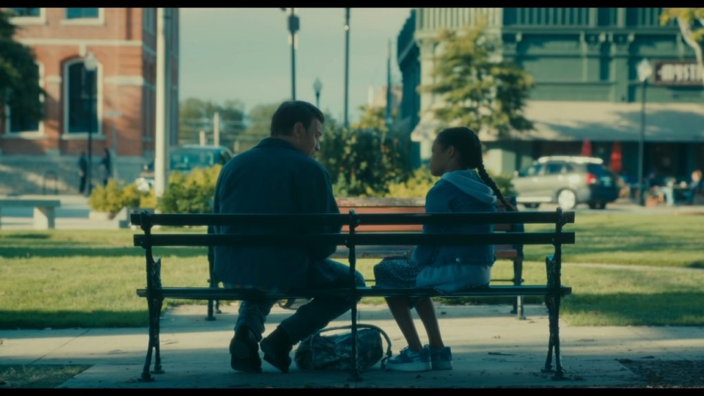 Danny and Abra on Park Bench