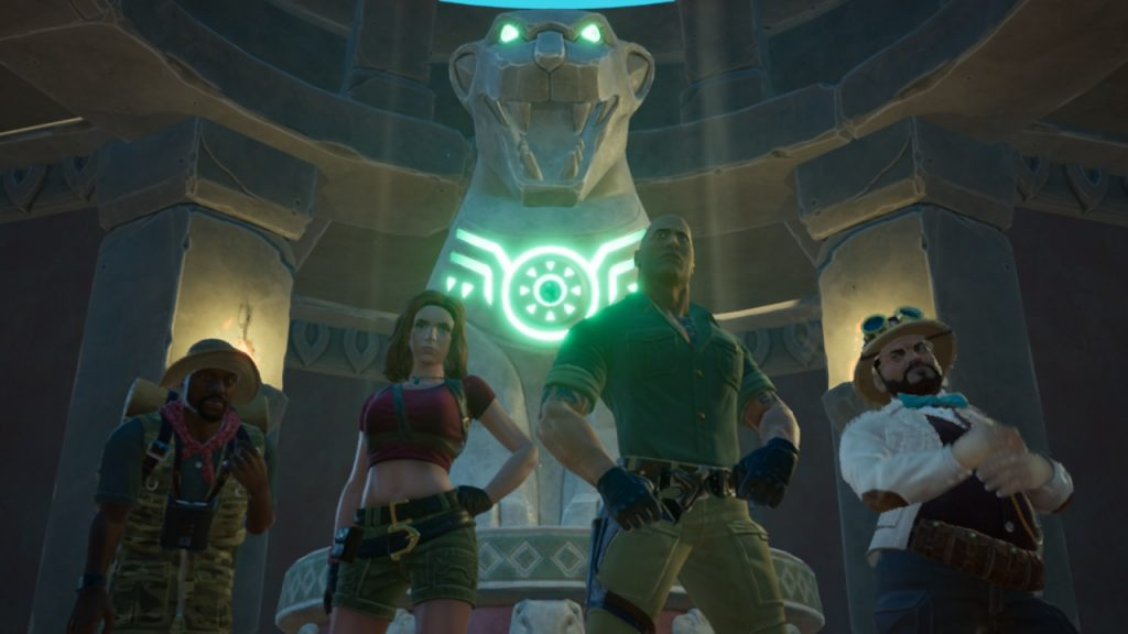 The four main characters in Jumanji The Video Game