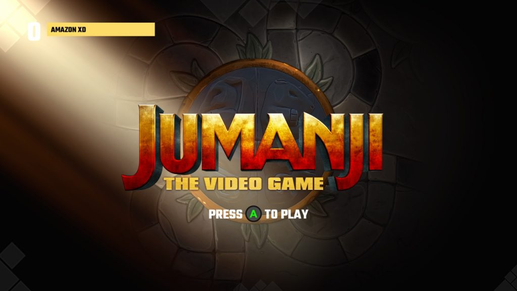 Jumanji The Video Game Title Screen