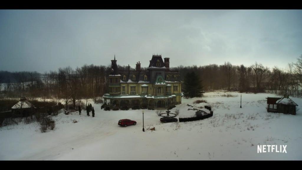 Big Mansion on Snowy Property