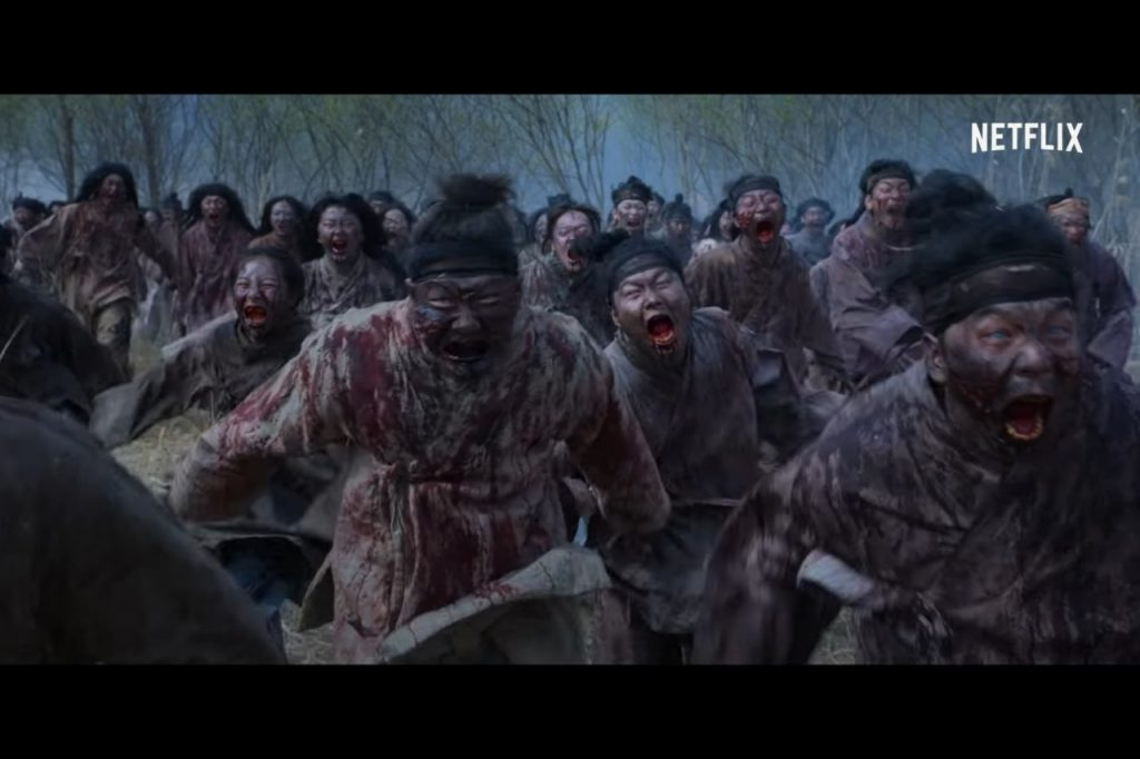 Horde of Zombies Covered in Blood